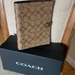Coach Signature Canvas with Leather Notebook